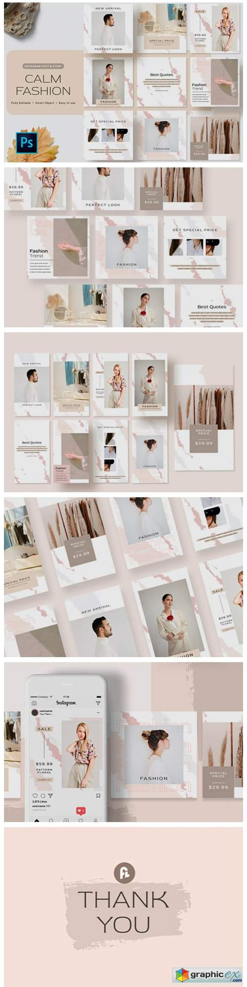 Calm Fashion Instagram Post Template