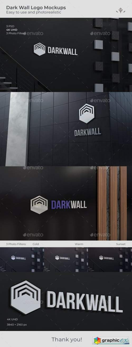 Dark Wall Logo Mockup
