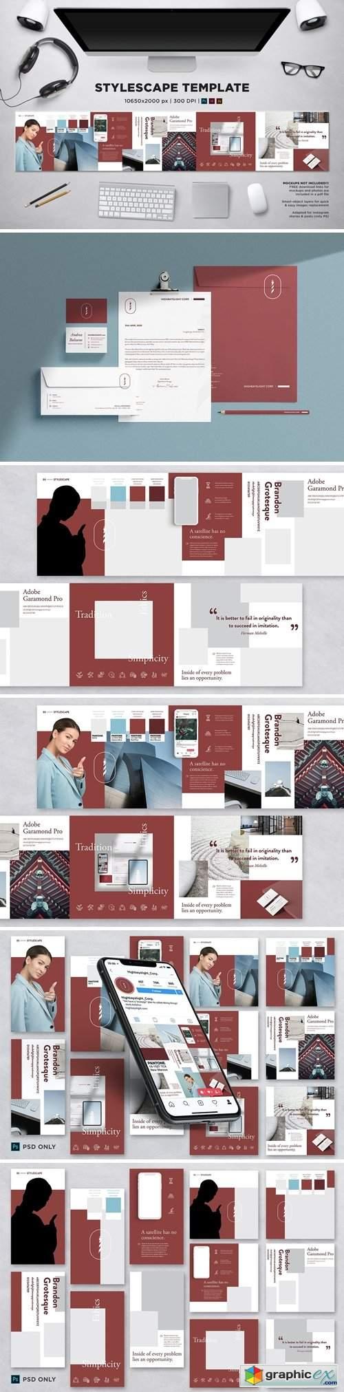 Stylescape / Moodboard Template 05