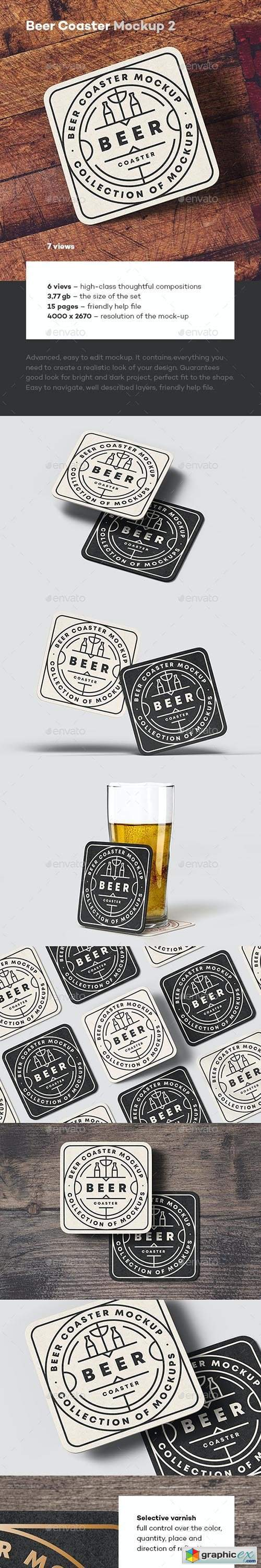 Beer Coaster Mock-up 2