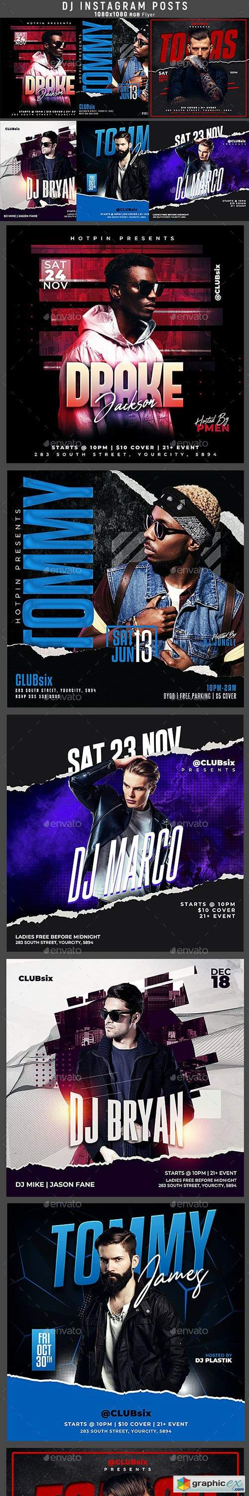 6 Dj Flyer Instagram Posts