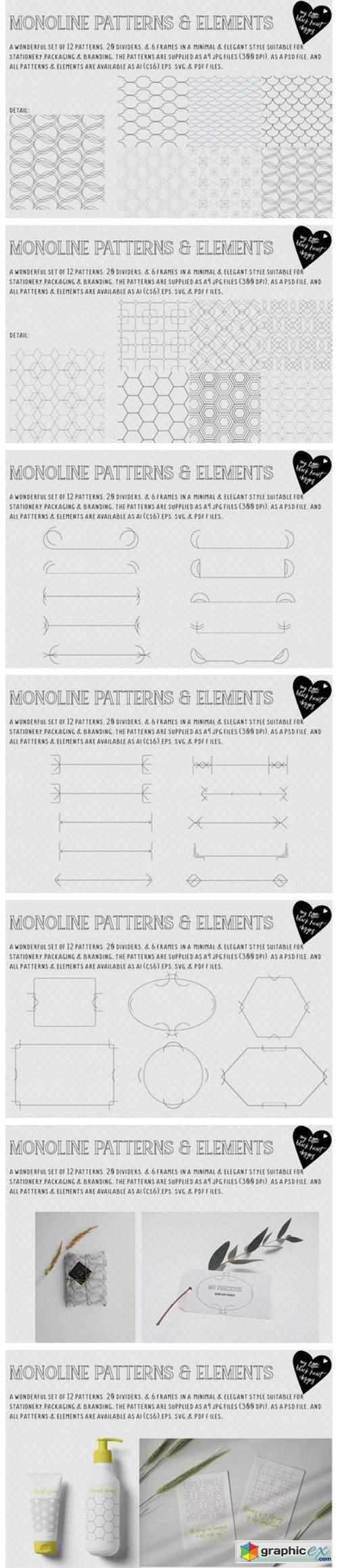 Monoline Patterns & Elements