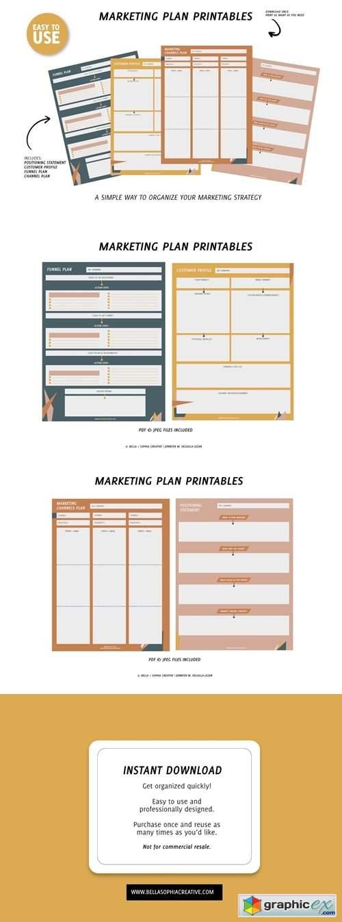 Printable Marketing Plan - Small