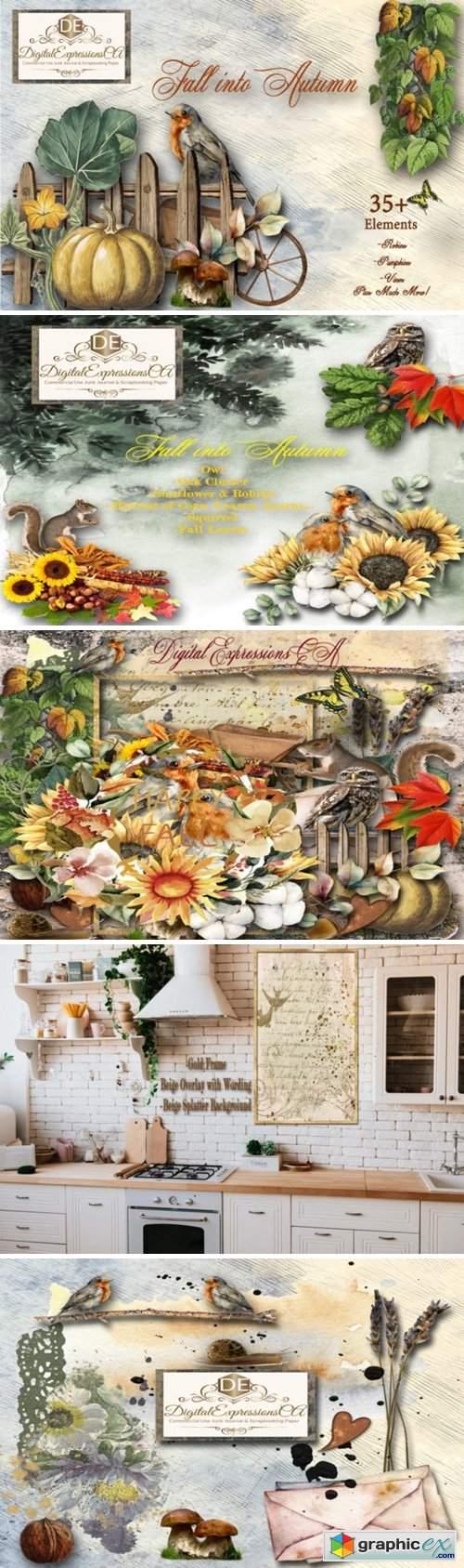 Fall into Autumn 35 Embellishments