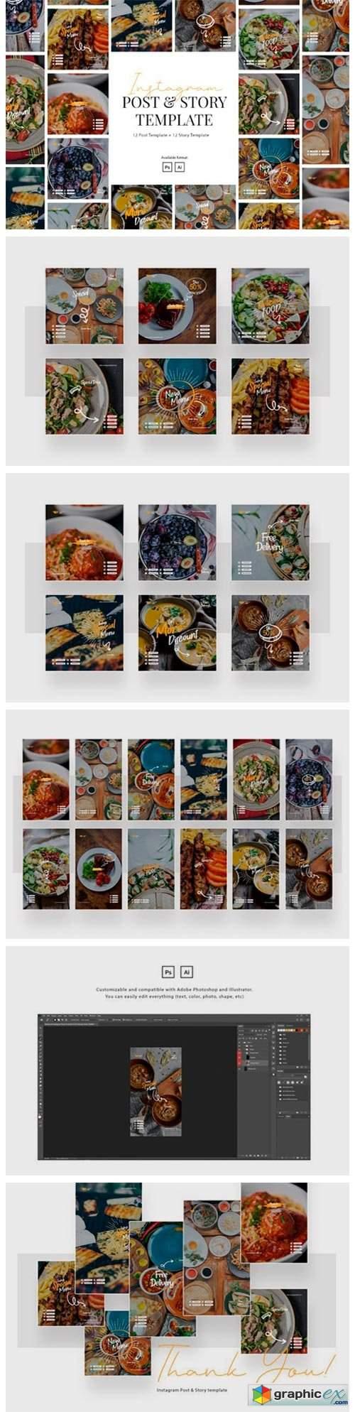 Elegant Restaurant Instagram Template