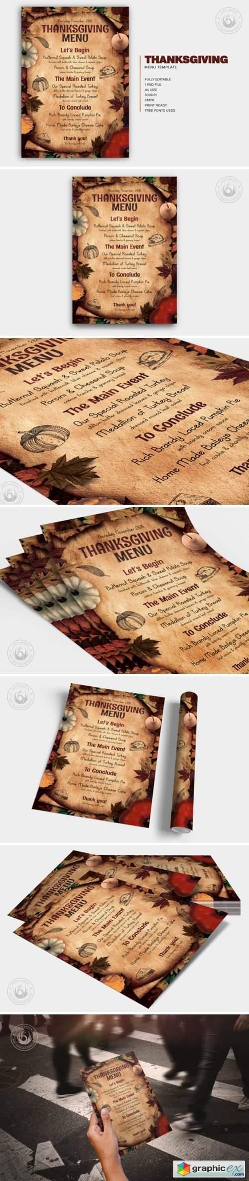 Thanksgiving Menu Template V2 6590590