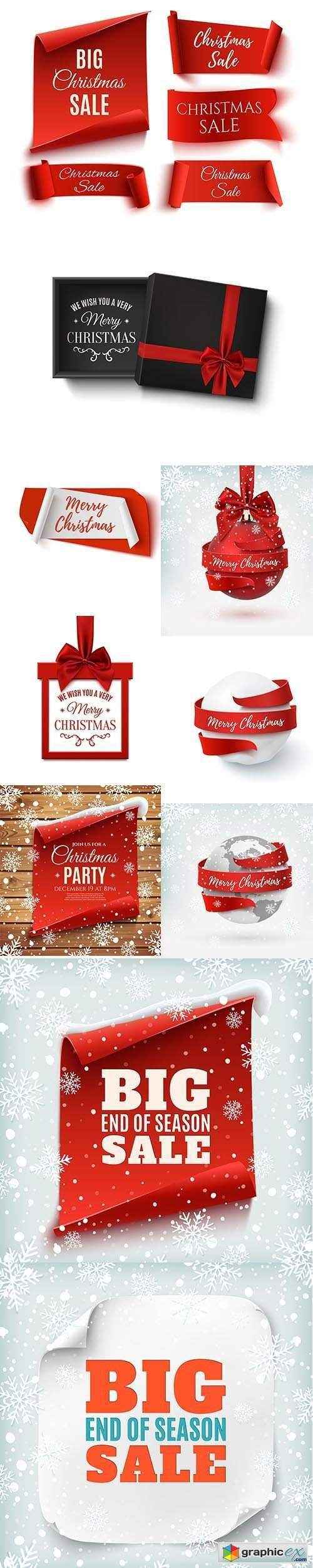Christmas Abstract banner isolated