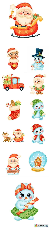 Cute cartoon christmas image