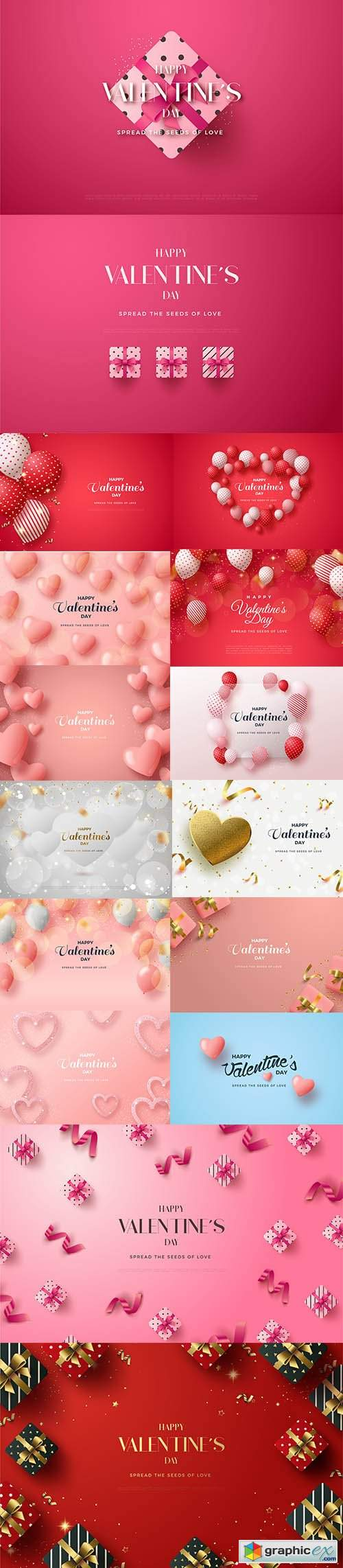 Valentines day background with love line pink glitter