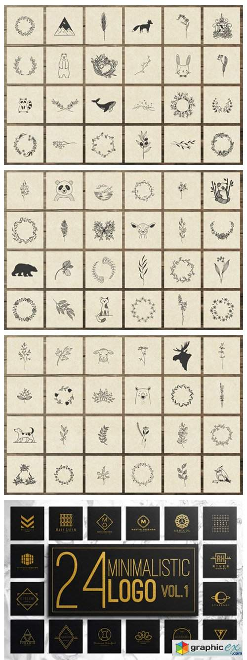 150 Hand Drawn Elements Nature II