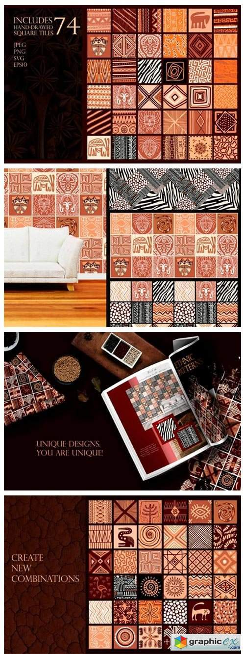 Ethnic African Patterns and Tiles