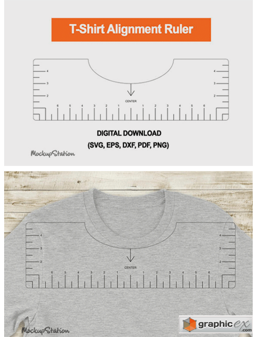 Tshirt Ruler SVG, T-shirt Alignment Tool