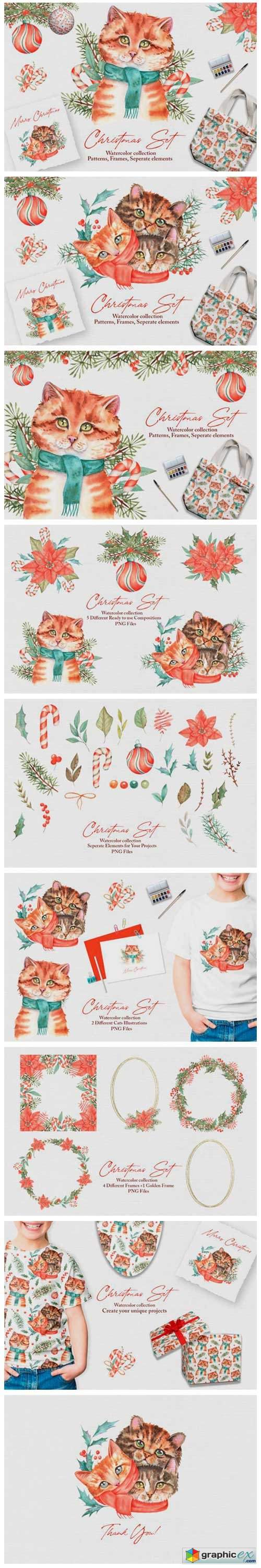 Watercolor Christmas Set 6581238