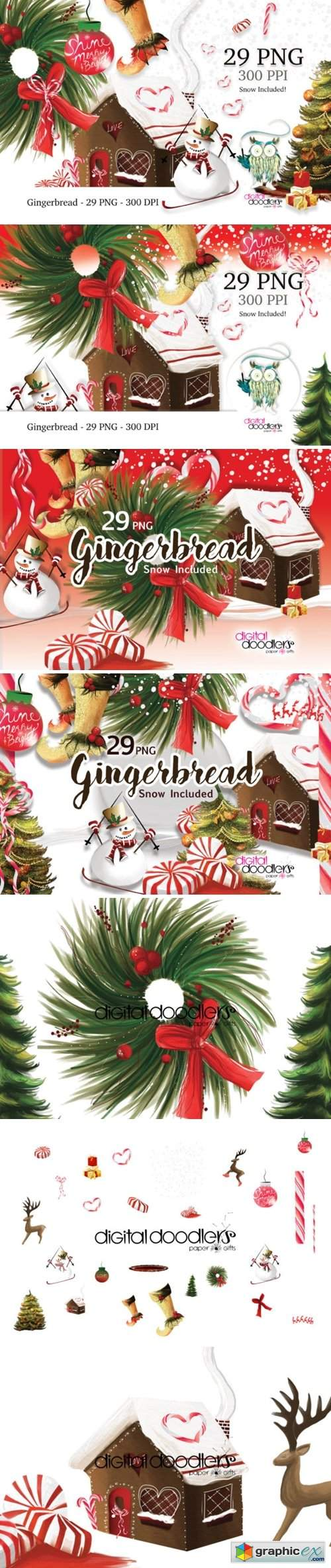 Gingerbread Christmas Graphics