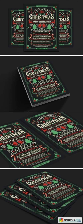 Christmas Party Celebration Flyer 6527752