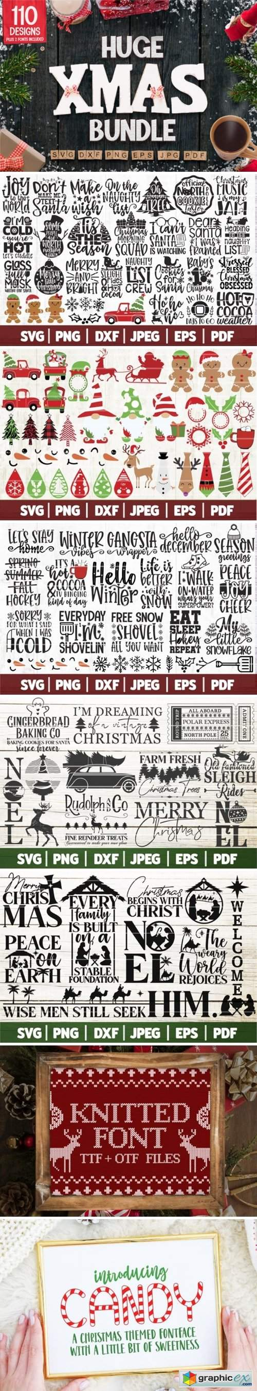 Huge Christmas Bundle SVG