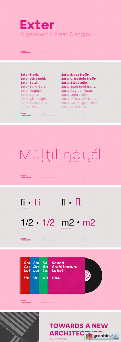 Exter Font Family