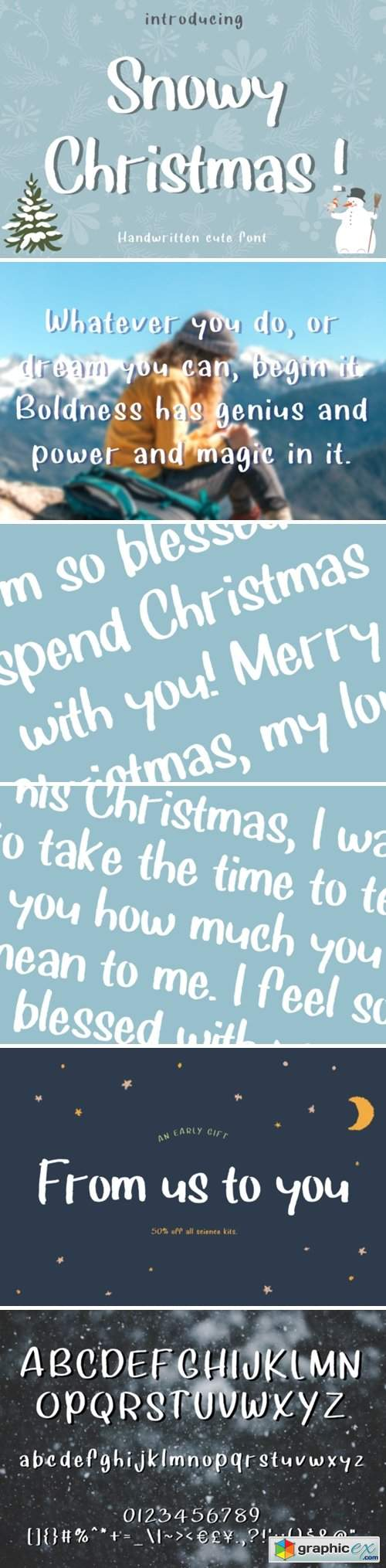 Snowy Christmas Font