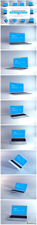 Macbook Air Mockup Bundle Vol 1