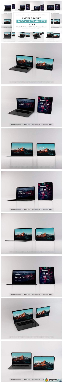 Laptop and Tablet Mockup Bundle Vol 1