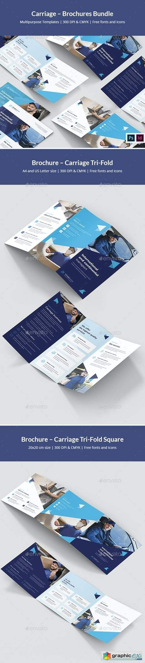 Carriage – Brochures Bundle Print Templates 7 in 1
