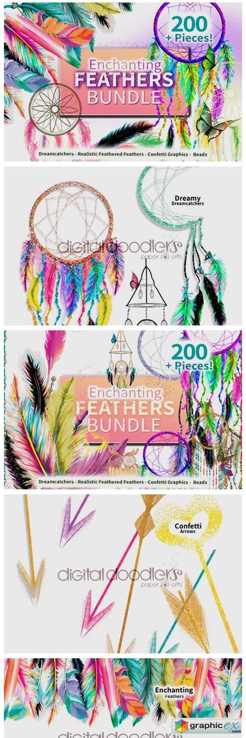 Enchanting Feathers Graphic Bundle