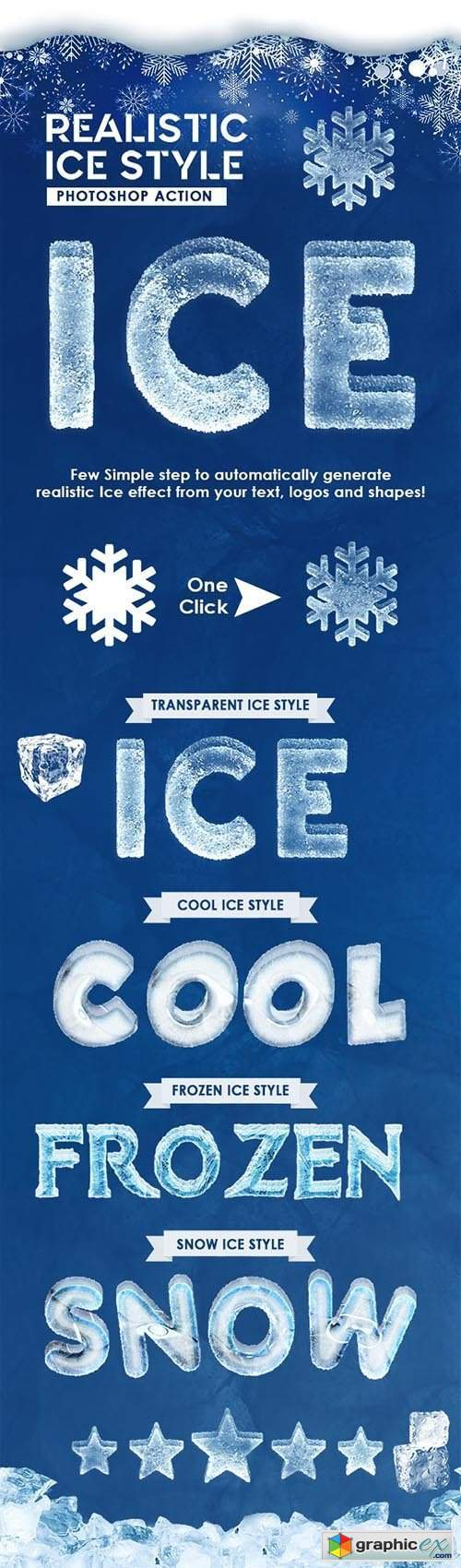 Realistic Ice Style - Photoshop Actions