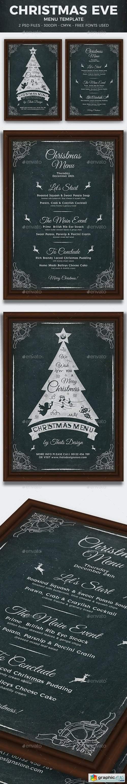 Christmas Menu Template V5 13299646