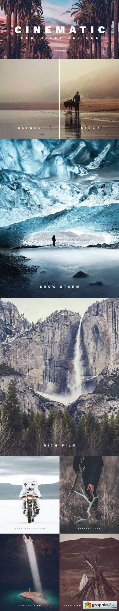 Film-Inspired - Cinematic Photoshop Actions [43 Actions]