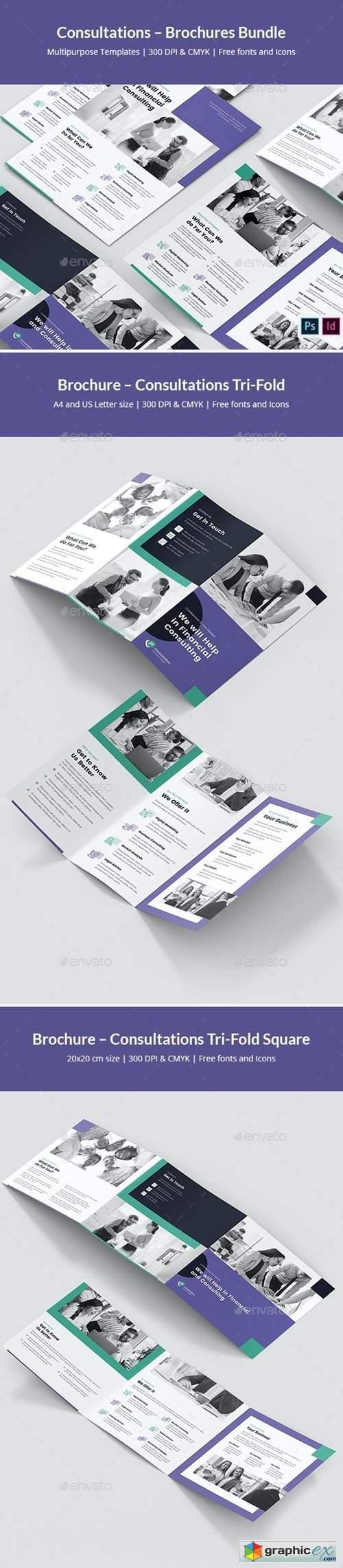 Consultations – Brochures Bundle Print Templates