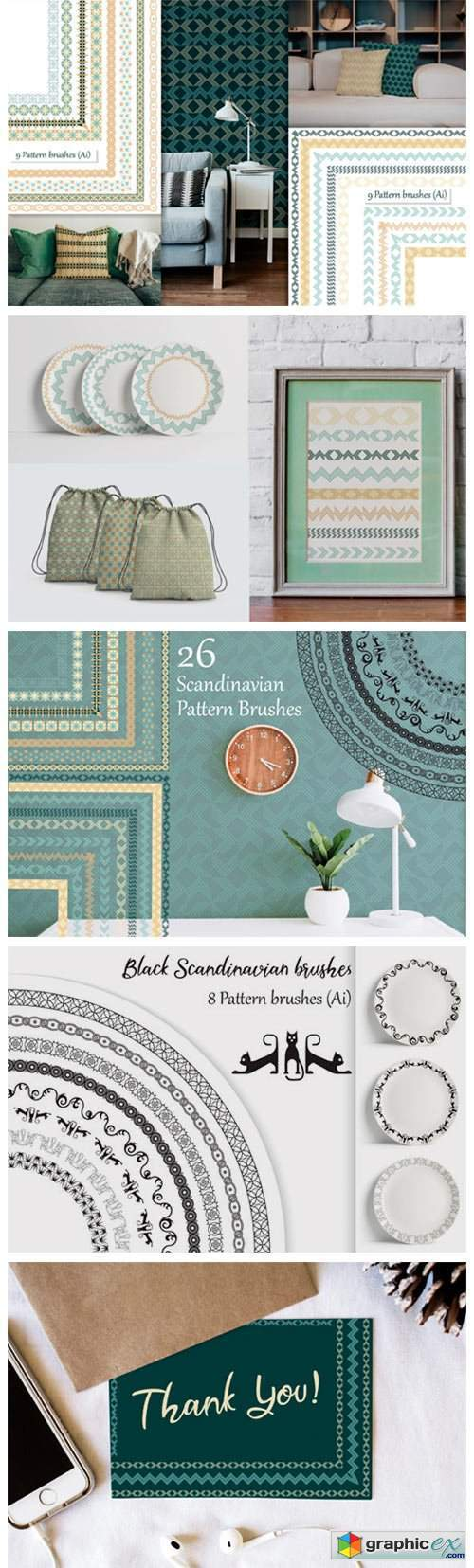 Scandinavian Pattern Brushes