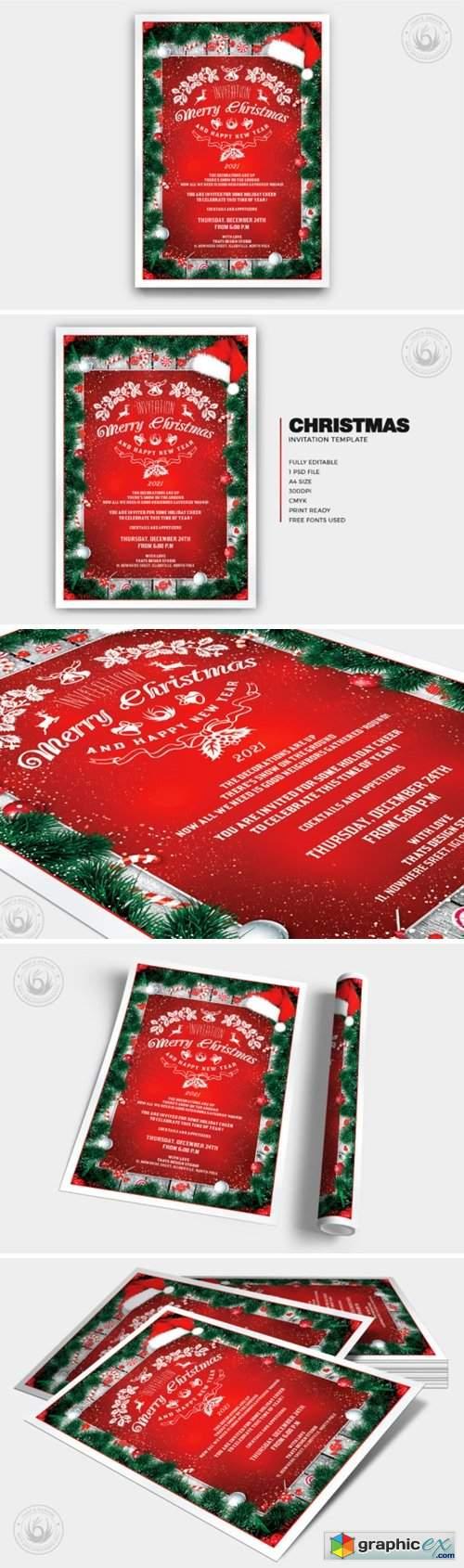 Christmas Invitation Template V6