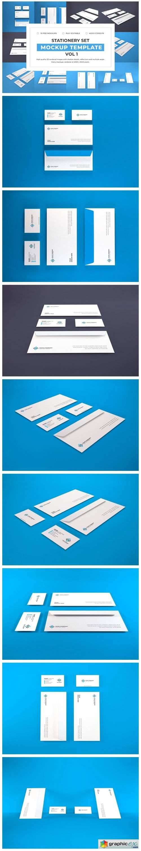 Stationery Set Mockup Bundle Vol 1