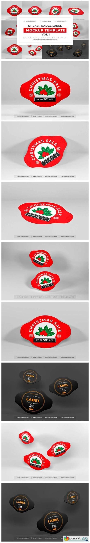 Sticket Badge Label Mockup Bundle Vol 1