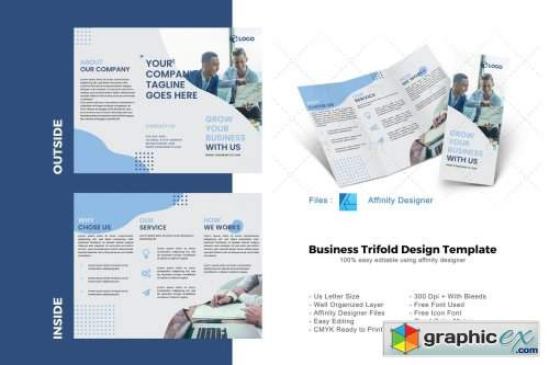Business Trifold Brochure Template 4894005