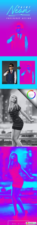 Neon Paint Photoshop Effect
