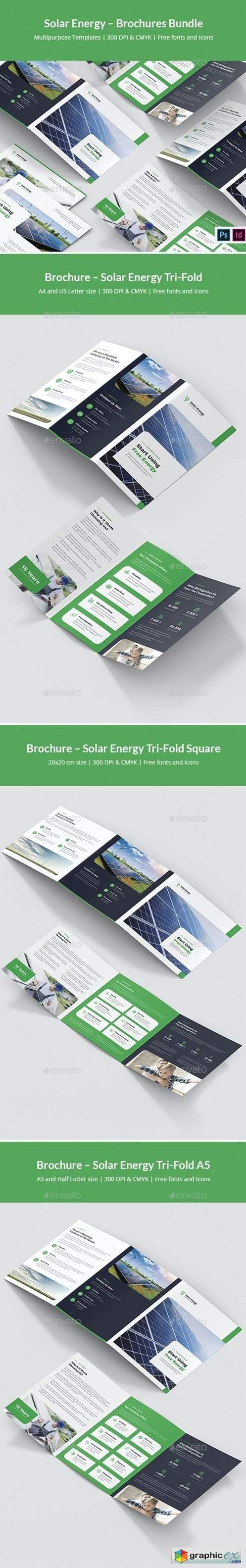 Solar Energy – Brochures Bundle Print Templates 7 in 1