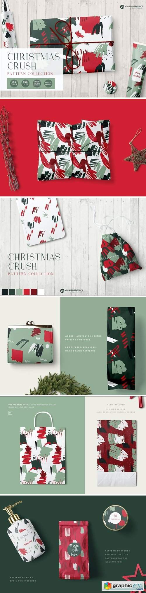 Christmas Crush Abstract Patterns