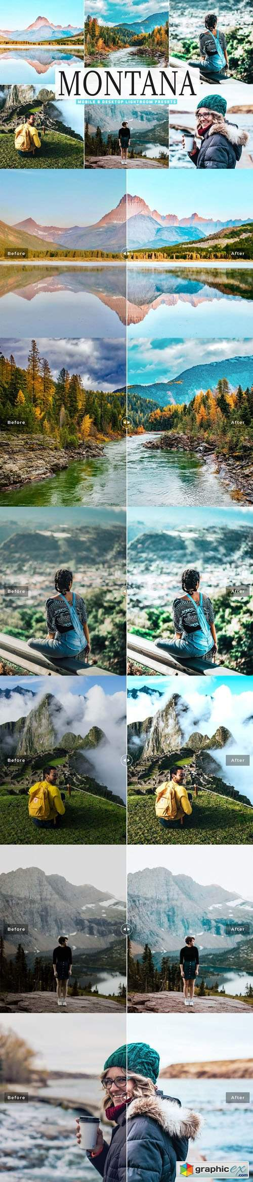 Montana Mobile & Desktop Lightroom Presets + Photoshop Actions
