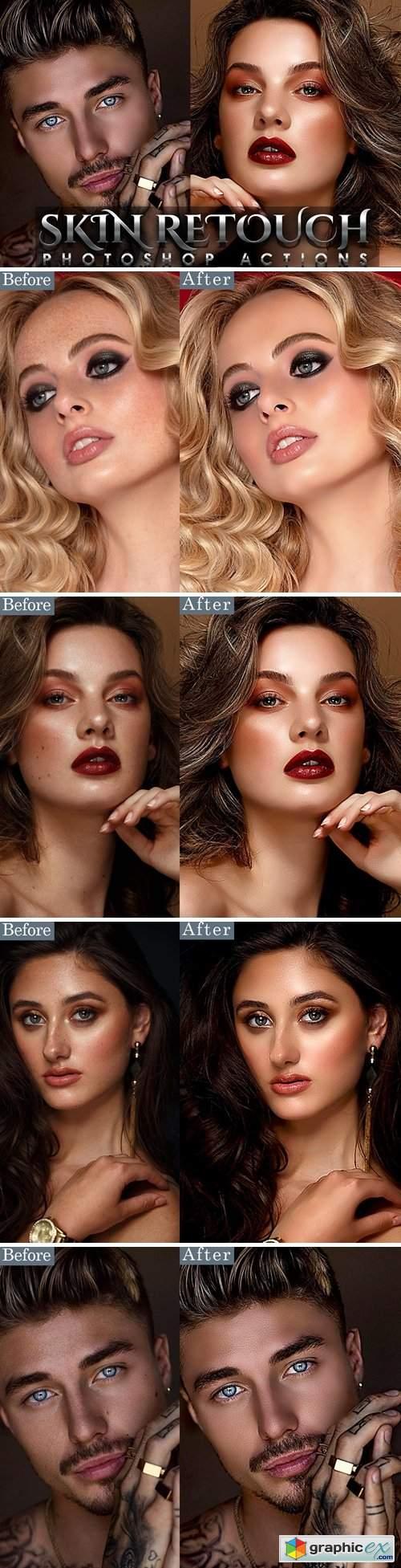 Skin Retouching Portrait Photoshop Action
