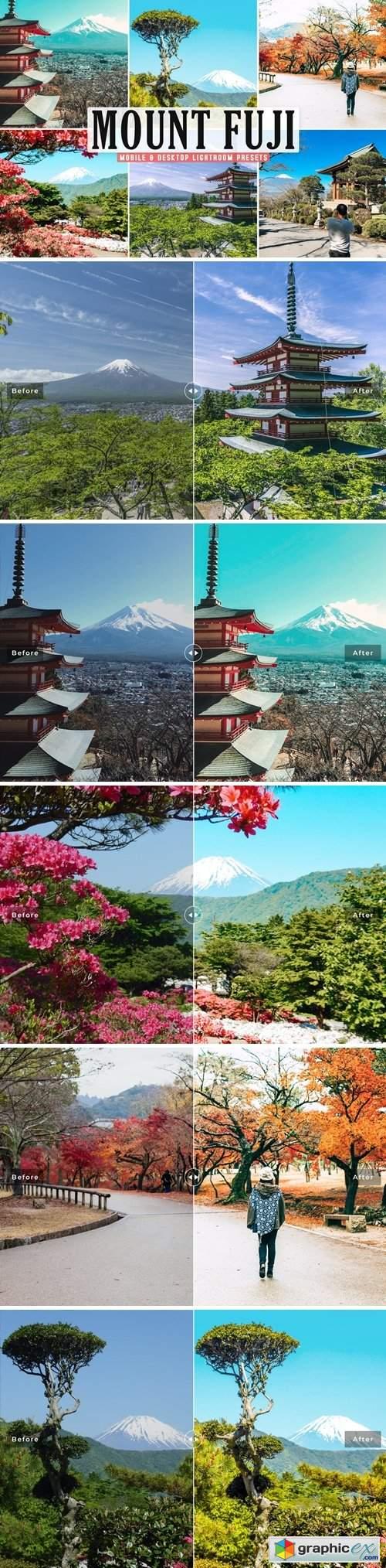 Mount Fuji Mobile & Desktop Lightroom Presets