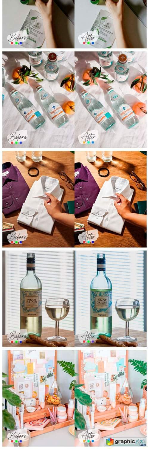 10 Product Mood Photoshop Actions