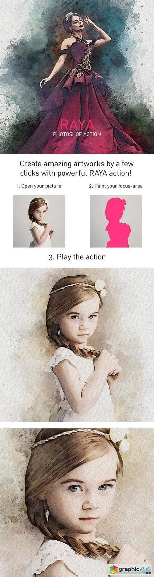RAYA   Vivid Painting Photoshop Action