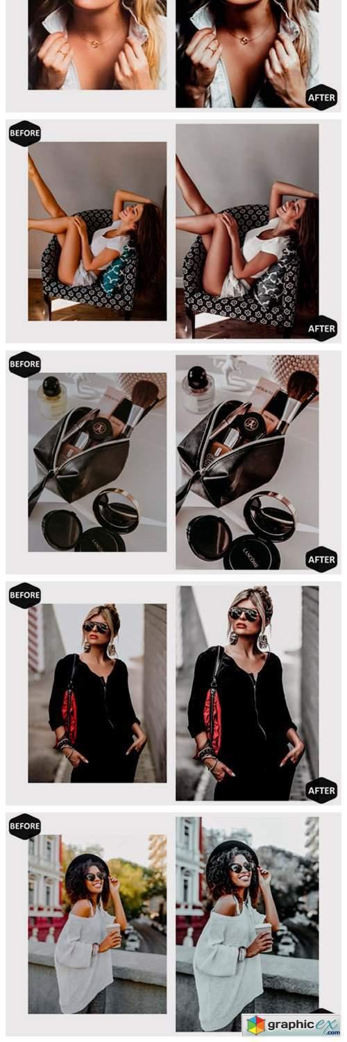 10 Black Ruby Mobile Lightroom Presets