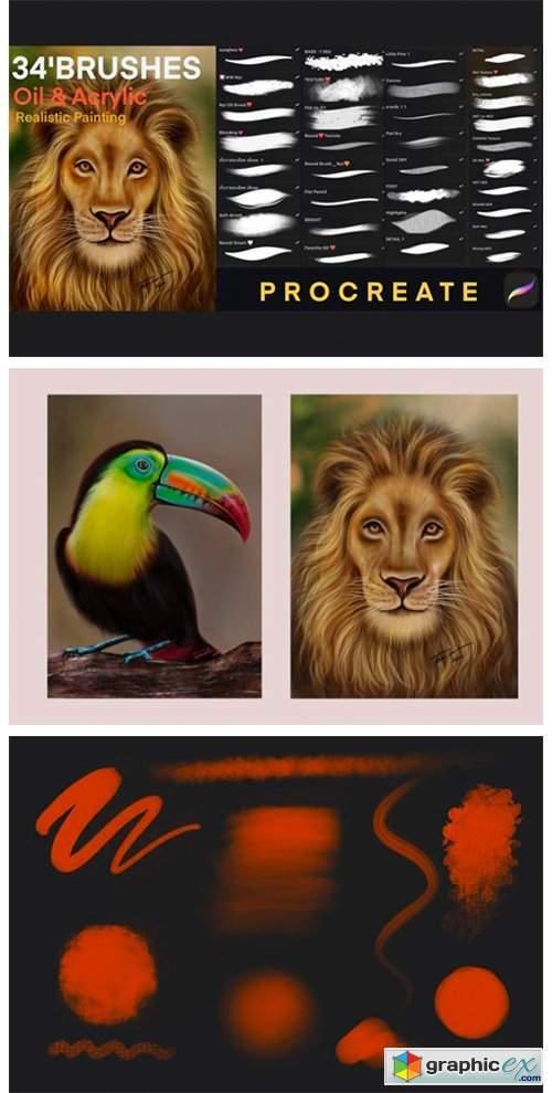 Procreate Oil Painting Brush