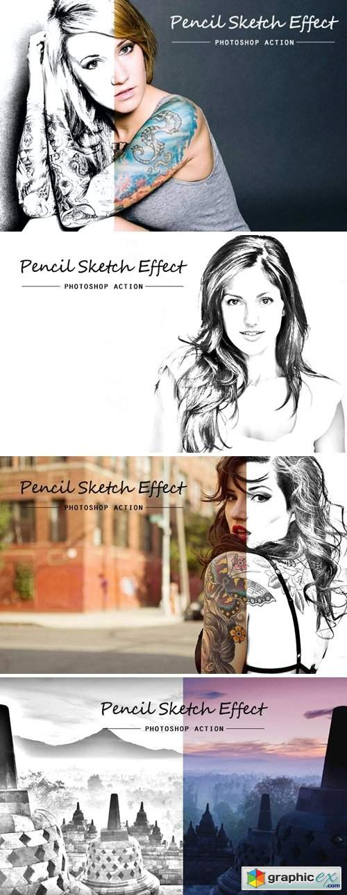 Pencil sketch | PSD action