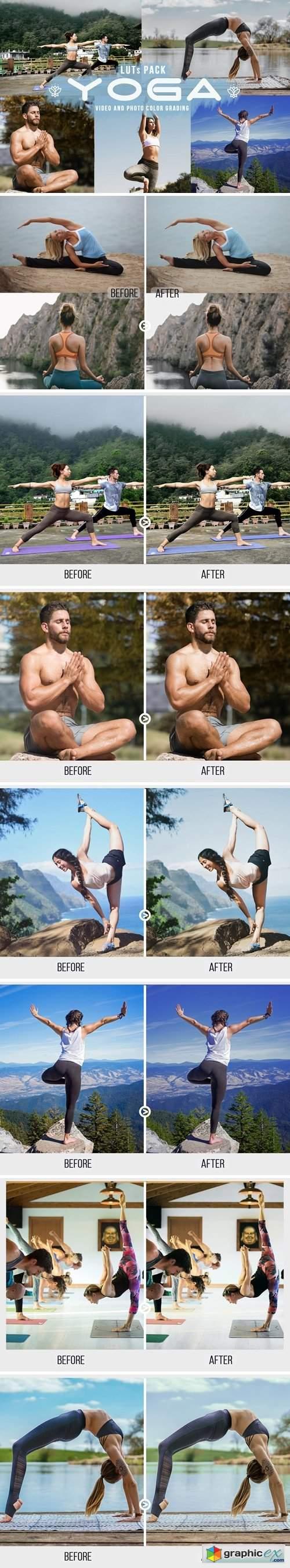 Yoga LUTs - 11 Yoga looks for video creators