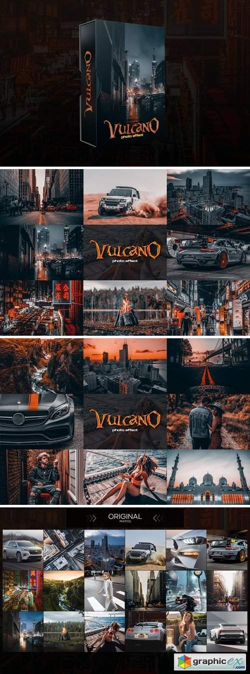 Vulcano Photoshop Actions