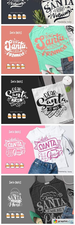 10 Santa Bundle | Lettering Quotes