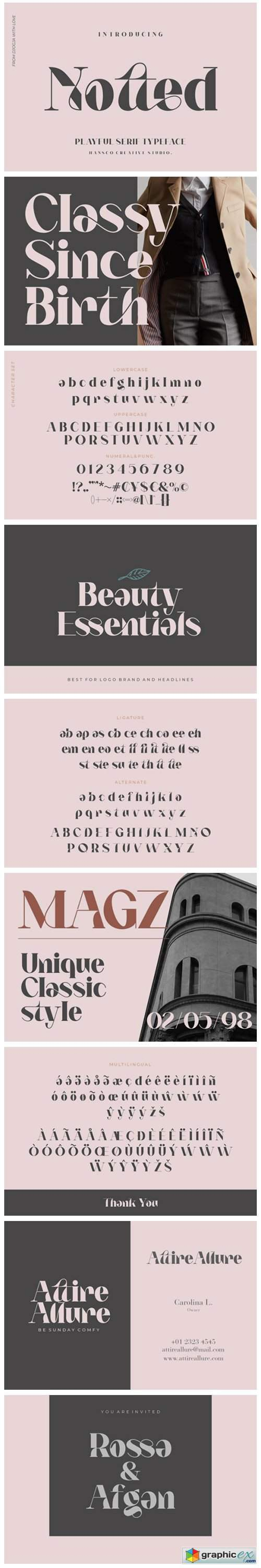 Notted Font